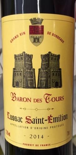 Lussac Saint-Emilion AOC Barons des Tours 2014 (75 cl)