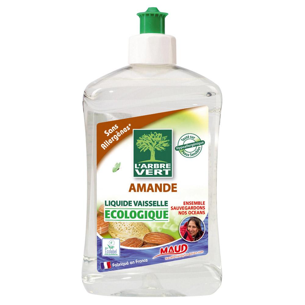 Liquide vaisselle écologique à l'amande, L'Arbre Vert (500 ml)