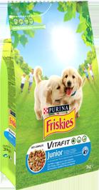 Croquettes pour chien VITAFIT junior au poulet, Friskies (4 kg)