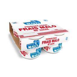 Fromage frais sucré 40%, Malo (4 x 100 g)