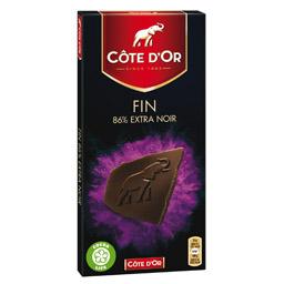 Chocolat noir de noir 86% de cacao, Côte d'Or (100 g)