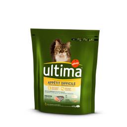Croquettes pour chat appétit difficile, Ultima (400 g)
