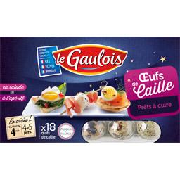 Oeufs crus de cailles, Le Gaulois (x 18)