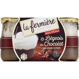 Liégeois au Chocolat, La Fermière (2 x 130 g)