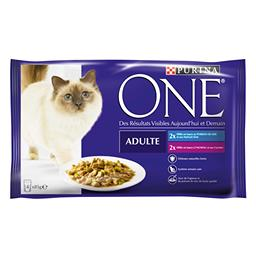 Sachets repas pour chats adultes, Purina One (4 x 85 g)