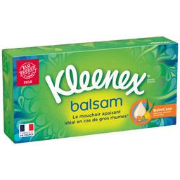 Boite de mouchoirs balsam, Kleenex (x 80)