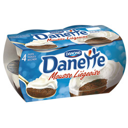 Danette Mousse Liegeoise Chocolat Danone (4 x 80 g)