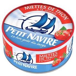 Miettes de thon à la tomate, Petit Navire (160 g)