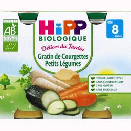 Délices du jardin gratin de courgette, petits légumes BIO - dès 8 mois, Hipp (2 x 190 g)
