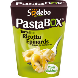 PastaBox tortellini ricotta épinards sauce au parmesan, Sodebo (280 g)