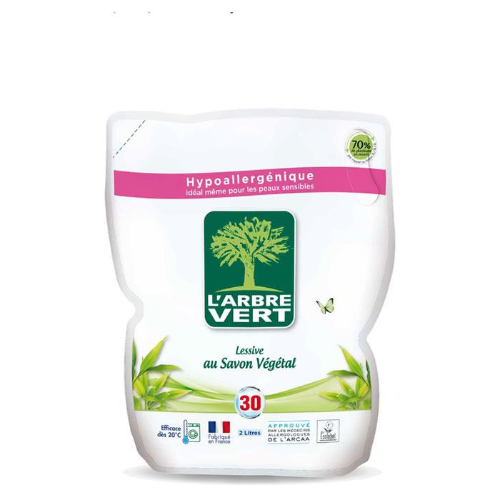 Lessive liquide écologique en recharge, L'Arbre Vert (2 L)