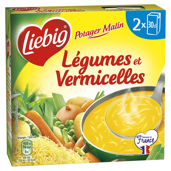 Soupe légumes et vermicelles Potager Malin, Liebig (2 x 30 cl)