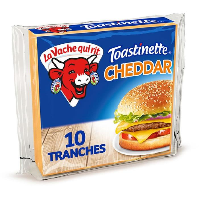 Toastinette au cheddar pour Hamburger, La Vache qui rit (x 10)