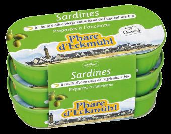 Sardines à l'huile d'olive vierge extra, en boîte 1/13, Phare d'Eckmuhl (165 g)
