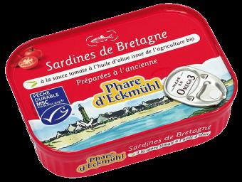 Sardines à la sauce tomate, en boîte 1/5, Phare d'Eckmuhl (135 g)