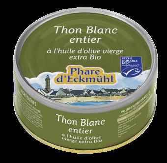 Thon blanc Germon à l'huile d'olive, en boîte 1/5, Phare d'Eckmuhl (160 g)