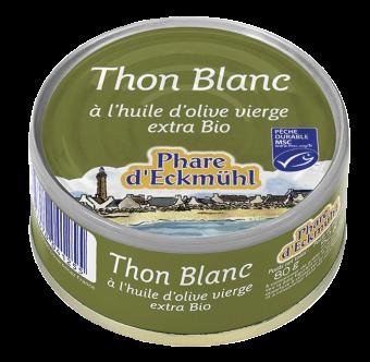 Thon blanc Germon à l'huile d'olive, en boîte 1/10, Phare d'Eckmuhl (80 g)