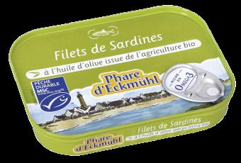 Filets de sardine à l'huile d'olive, en boîte 1/7, Phare d'Eckmuhl (100 g)