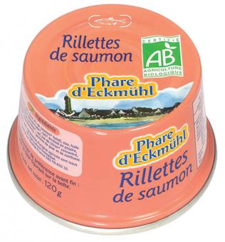 Rillettes de saumon, en boîte 1/6, Phare d'Eckmuhl (120 g)