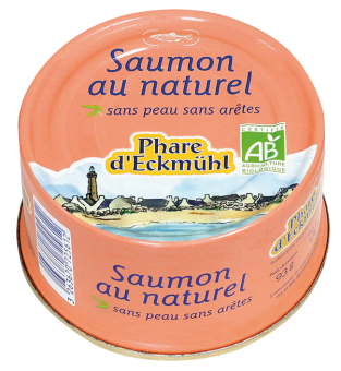 Saumon au naturel, en boîte 1/6, Phare d'Eckmuhl (132 g)
