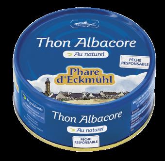 Thon Albacore au naturel, en boîte 1/5, Phare d'Eckmuhl (160 g)