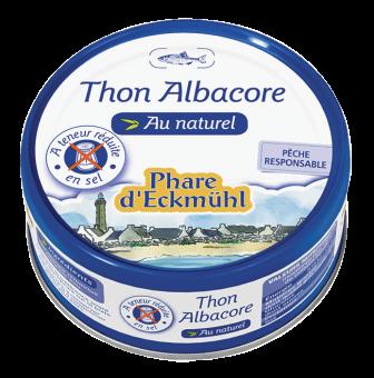 Thon Albacore au naturel à teneur réduite en sel, en boîte 1/5, Phare d'Eckmuhl (160 g)