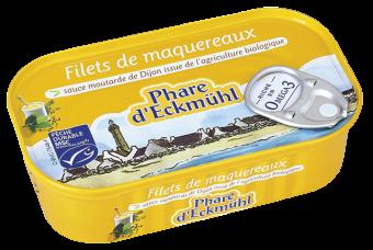 Filets de maquereaux à la moutarde, en boîte 1/6, Phare d'Eckmuhl (113 g)