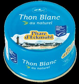 Thon blanc Germon au naturel, en boîte 1/6, Phare d'Eckmuhl (132 g)