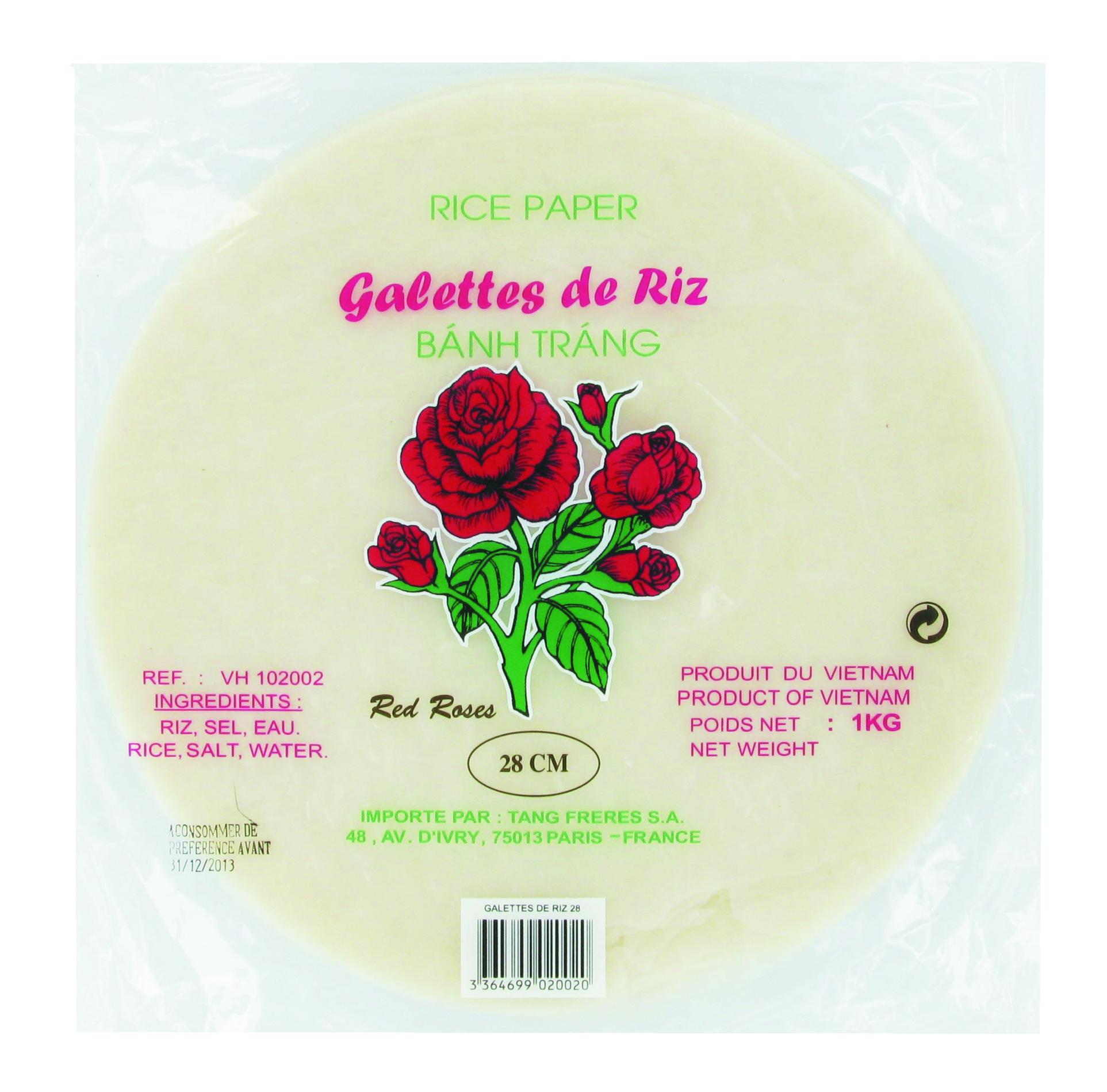 Galette de riz Red Roses - 28 cm (1 kg)