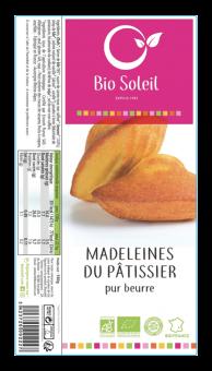 Madeleines pur beurre BIO, Bio Soleil (180 g)