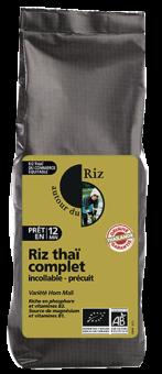 Riz Thaï complet étuvé BIO, Autour du Riz (500 g)