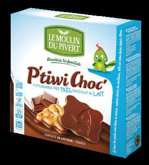 P'tiwi au chocolat au lait BIO, Le Moulin du Pivert (125 g)