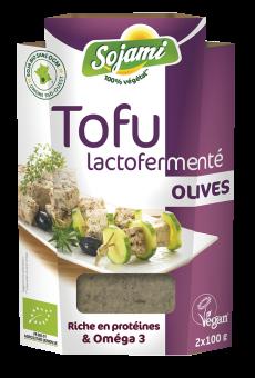 Tofu lactofermenté aux olives, Le Sojami (x 2, 200 g)