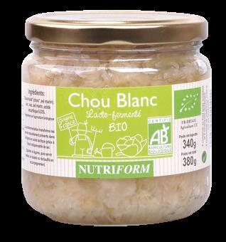 Chou blanc lacto-fermenté BIO, Nutriform (380 g)