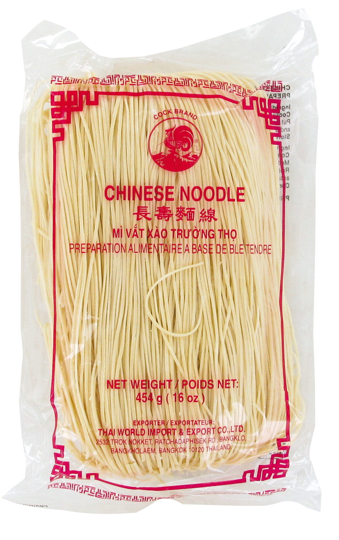 Nouilles chinoises blanches, Cock (454 g)