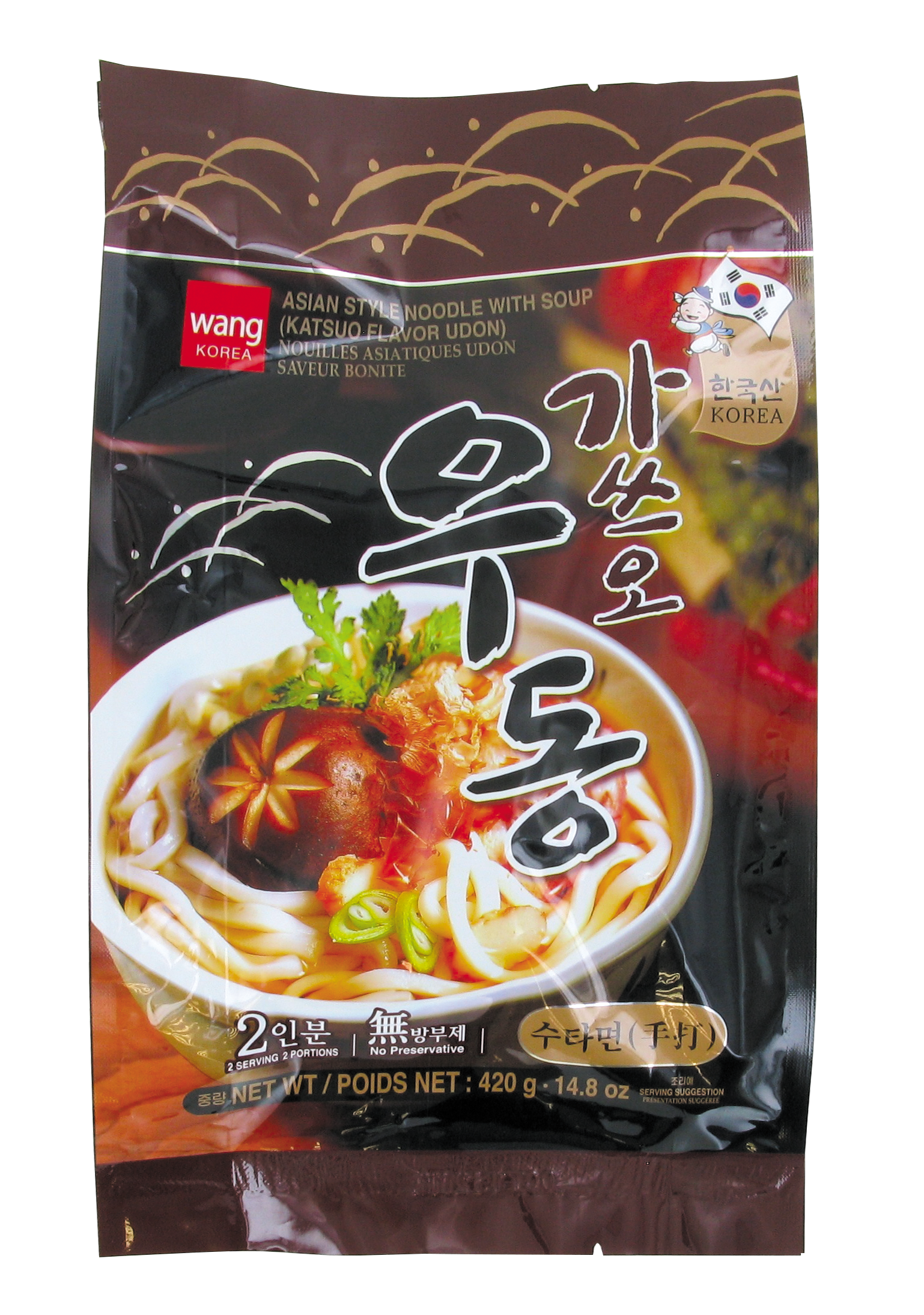 Udon saveur bonite, Wang Korea (2 x 210 g)