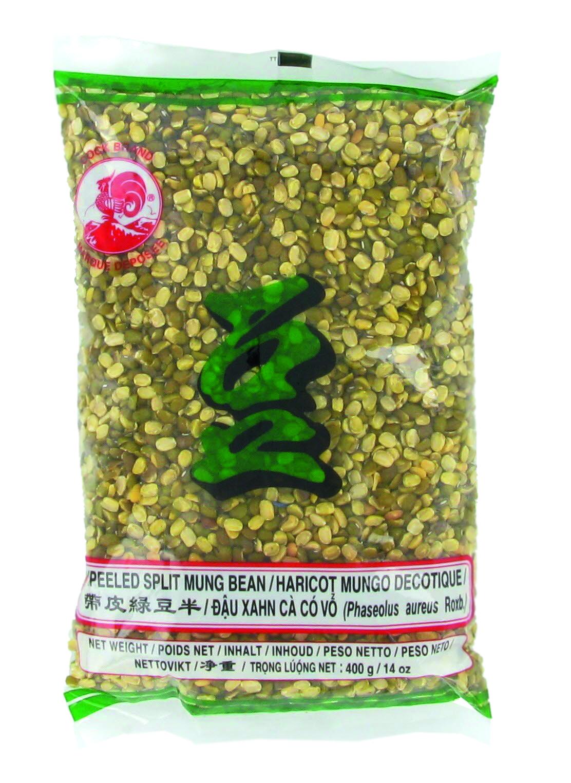 Haricot Mungo vert concassé et décortiqué, Cock (400 g)