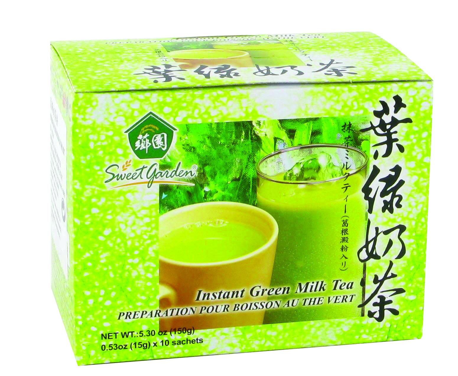 Préparation pour boisson au thé vert à base de lait,  Sweet Garden (10 x 15 g)