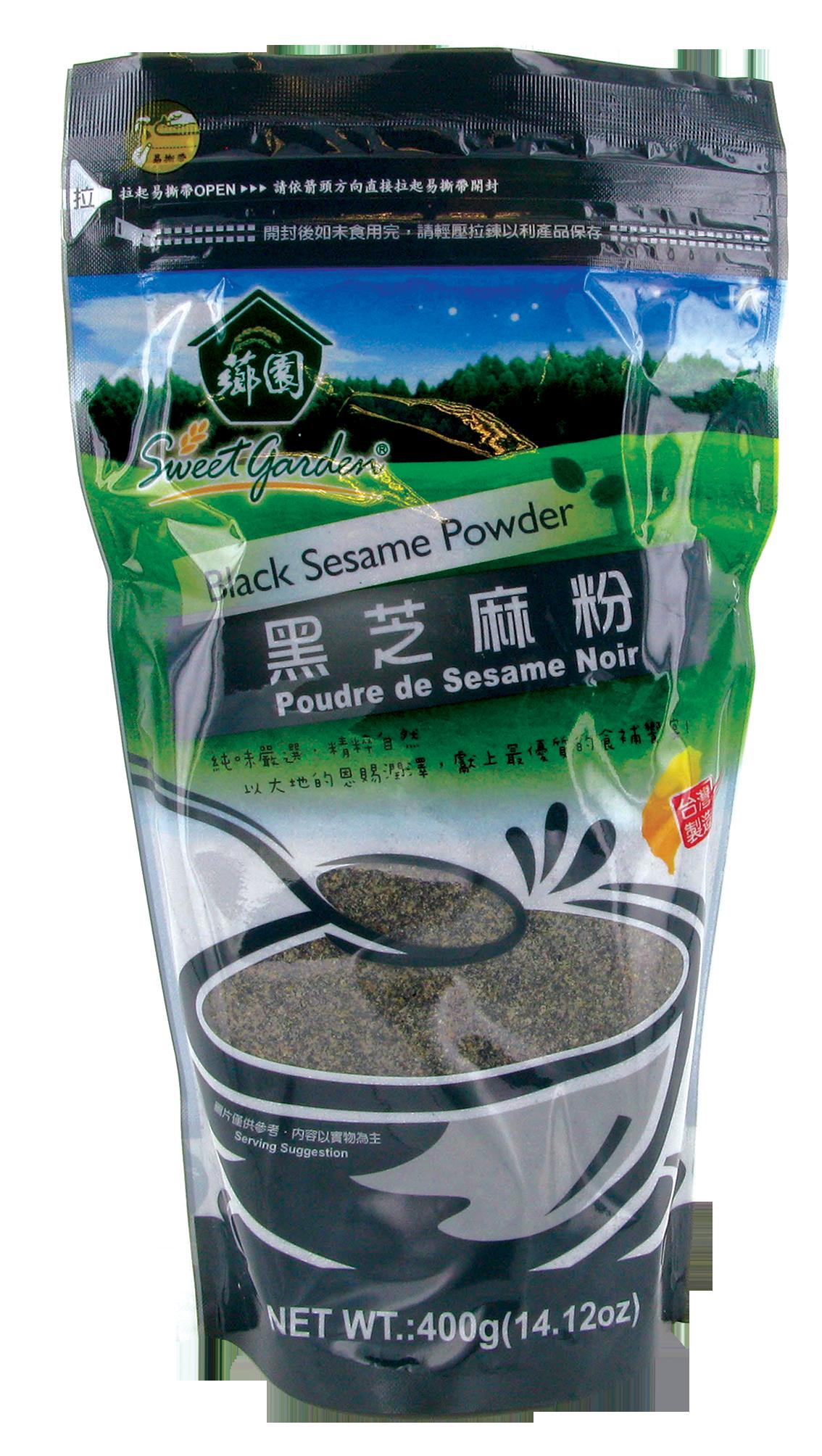 Sésame noir en poudre, Sweet Garden (400 g)