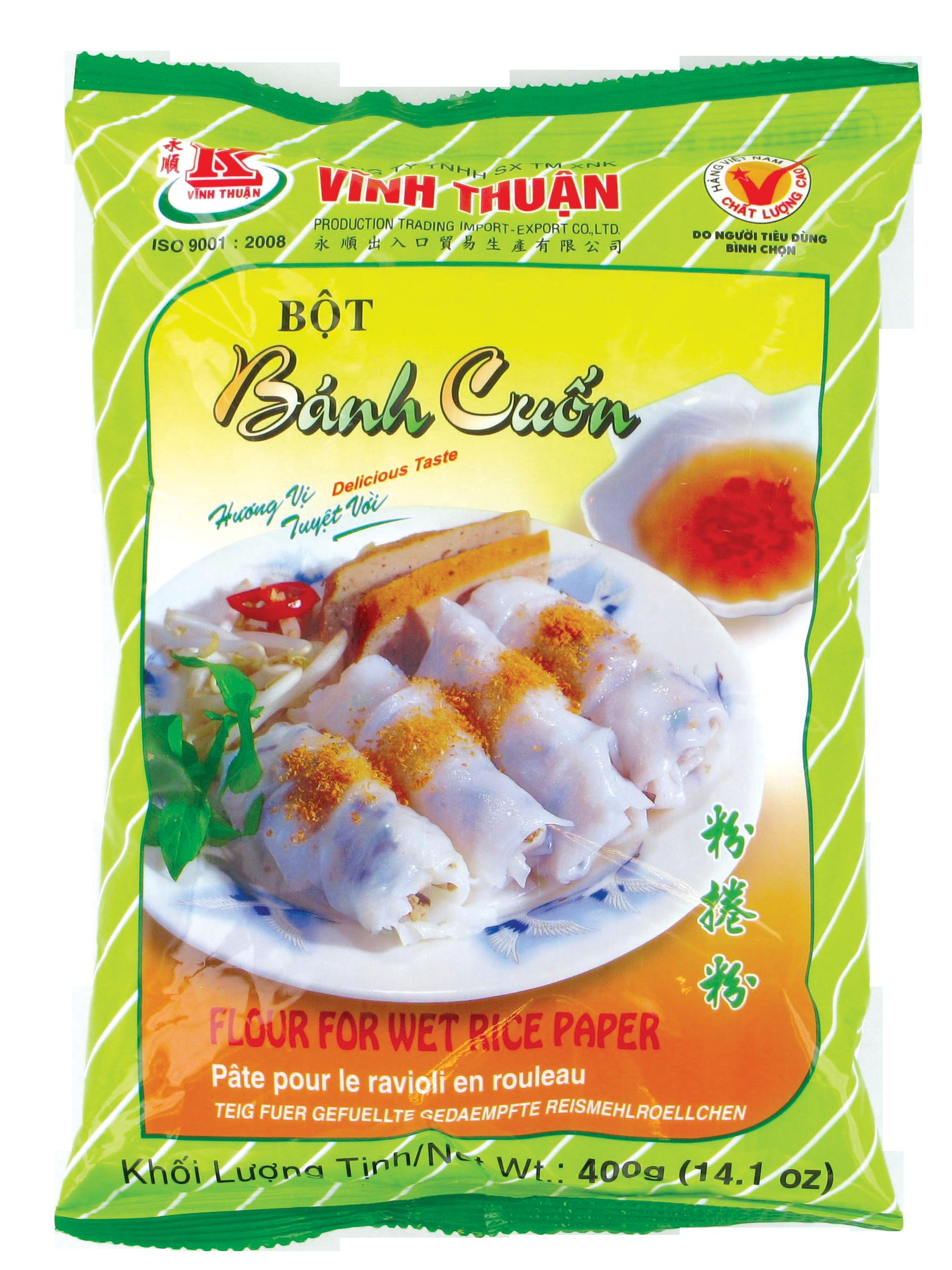"""Préparation pour """"Banh cuôn"""" ravioli en rouleau, Vinh Thuan (400 g)"""