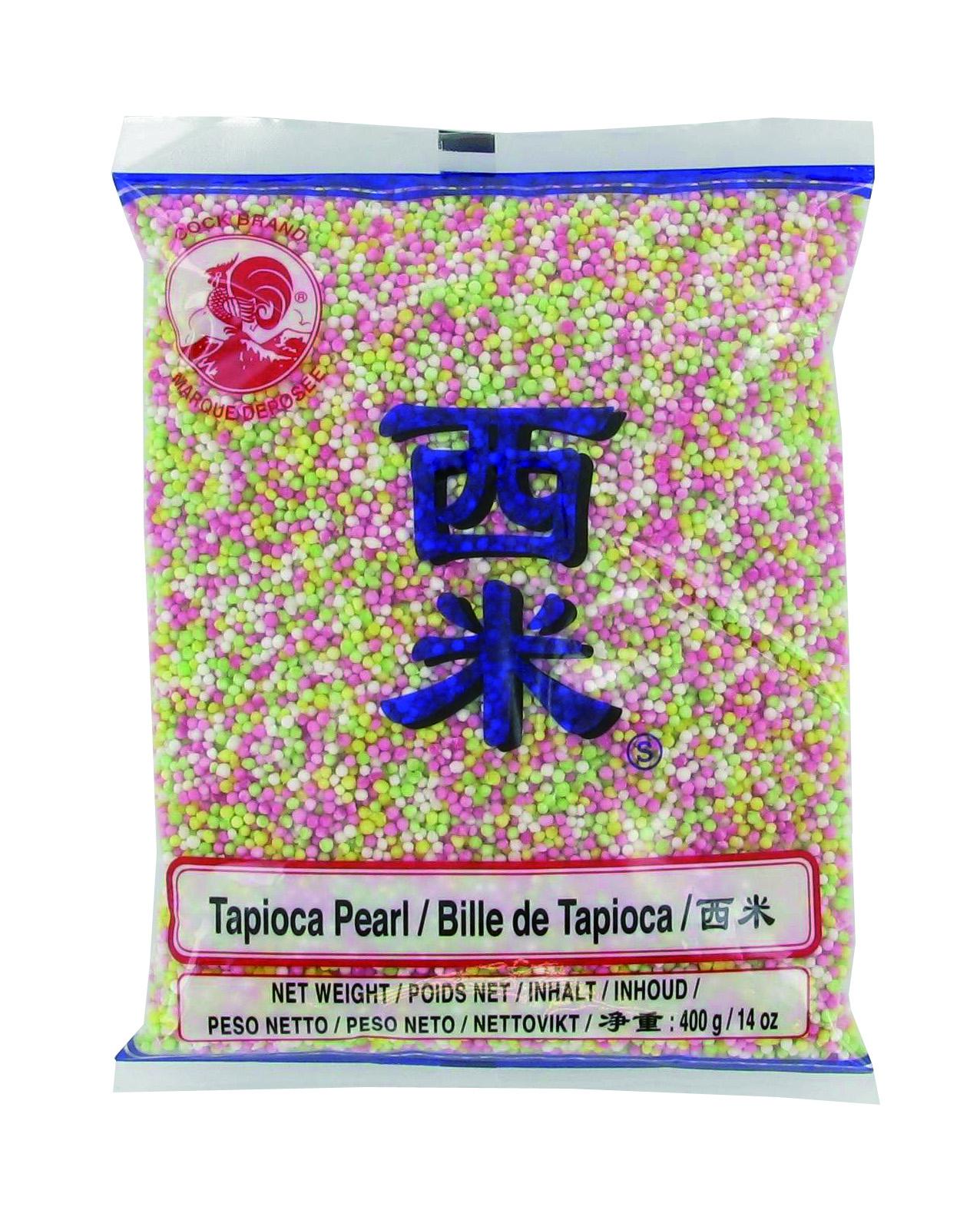 Petites billes de tapioca colorées, Cock (400 g)