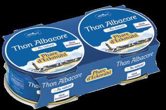 Thon Albacore au naturel, en boîte 1/10, Phare d'Eckmuhl (x 2, 160 g)