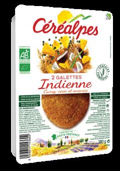 Galettes de céréales et de légumes façon indienne BIO, Céréalpes (x 2, 180 g)