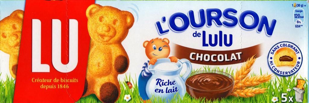 Oursons au chocolat, Lu (x5, 150 g)
