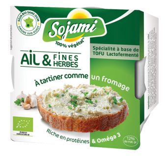 Sojami à tartiner ail et fines herbes, Le Sojami (125 g)