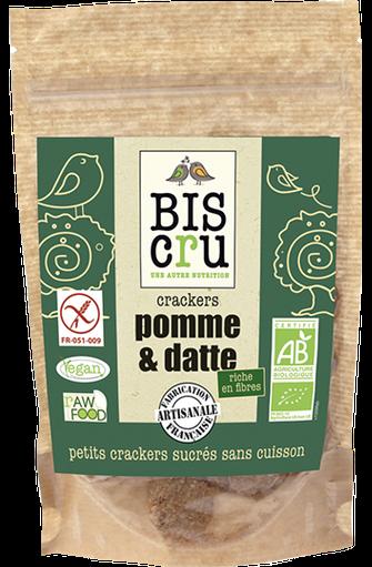 Crackers pomme et datte BIO, Biscru (70 g)