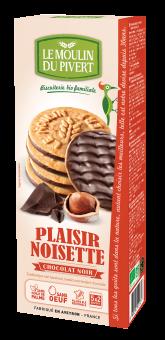 Plaisir noisette chocolat noir BIO, Le Moulin du Pivert (130 g)