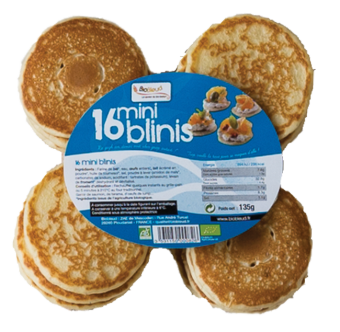 Mini-blinis BIO, Biobleud (x 16, 135 g)
