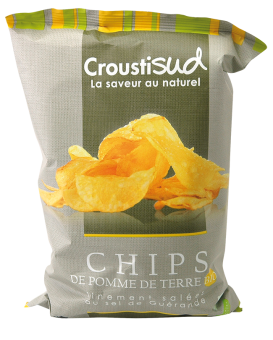 Chips de pomme de terre BIO, Croustisud (110 g)