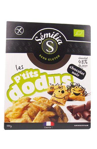 Les p'tits dodus chocolat noir sans gluten BIO, Sémilia (300 g)